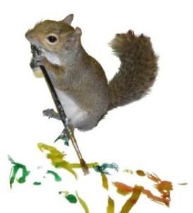 veverica koja voli da slika 2